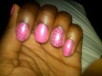 Pink with Brown Dots