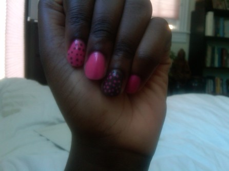 Brown and Pink mani