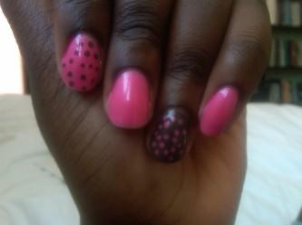 Brown N Pink Mani